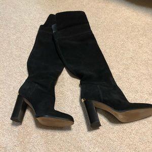 Michael Kors Regina black suede tall boot